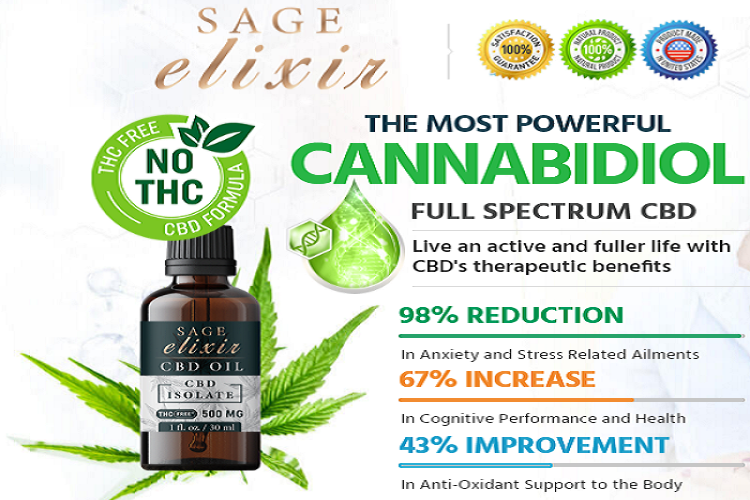 Sage Elixir CBD Oil -Reviews, Zero THC, Price!