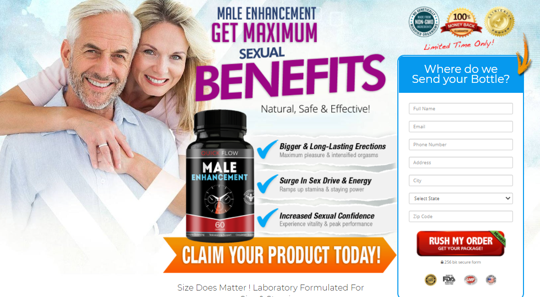 Quick Flow Male Enhancement – Benefits, Ingredients, And Reviews!
