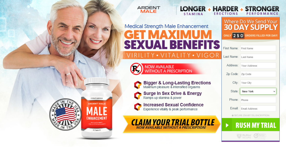 Ardent Male – Reviews, Male Enhancement, Price,